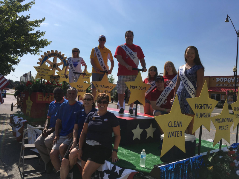 Carmelfest parade float