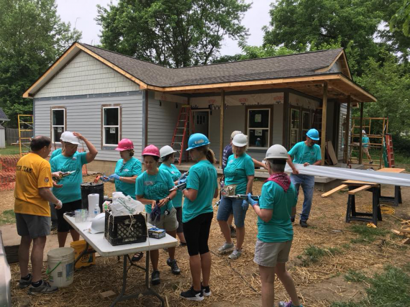 Habitat for Humanity Volunteering on June 2, 2018