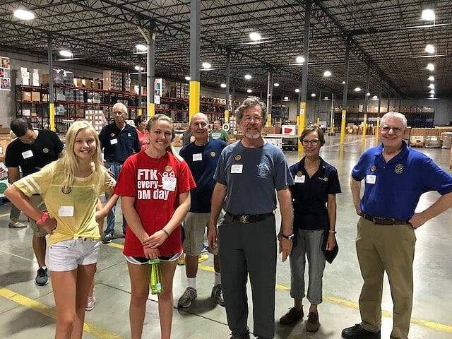 Gleaners Food Bank Volunteering on August 11, 2018